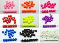 Wholesale 500 Mixed Matte Fluorescent Neon Beads Acrylic Round Beads mm