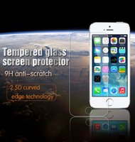 Wholesale For iphone Plus inch real Tempered Glass Screen Protector mm Explosion Proof Guard For Iphone S S Samsung S3 Note