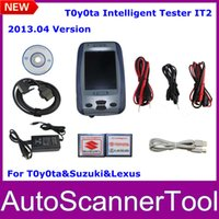 Cheap 2013.04 Version Toyota Intelligent Tester IT2 With Oscilloscope Function For Toyota&Suzuki&Lexus With Aluminium Case Fast Ship