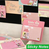 Wholesale 10 Memo pad Post it sticky notes Little talk Red hat removable adhesive paper papelaria material School supplies