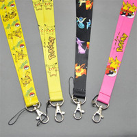Wholesale Cute New Pikachu PHONE LANYARD KEYS ID NECK STRAPS fors Kids best Christmas gift