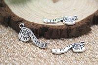 antique tape measure - 20pcs tape measure Charms Antique Tibetan silver tape measure Charms pendants x27mm