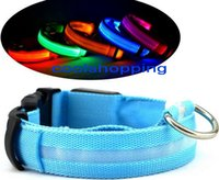 led glow products - LED Nylon Pet Dog Collar Night Safety LED Light up Flashing Glow pet products in the Dark