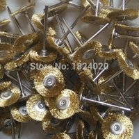 abrasive wire - Mounted Brass Wire Brush box Wire Polishing Wheels Abrasive Polishing Brush