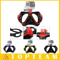 Wholesale Children Snorkel - For GoPro Accessories New Design Dive Mask Dive Scuba Diving Mask Mount Snorkel Mask For GoPro Hero Sj4000 SJ6000 Xiaomi yi