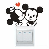 Wholesale Wall Stickers DIY Stickers Wall Stickers Fashion Cute DIY and Mickey Model Stickers Hot Waterproof and Safety Stickers