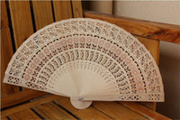 Wholesale New Wooden Hand Fans Portable Lady Wedding Handmade Folding Fans Cheap DHL Free Ship