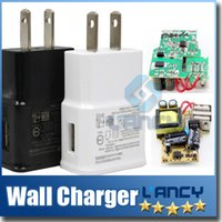 Wholesale US USB Wall Charger V A Travel AC Wall Charger Adapter for Samsung galaxy note N7000 I9220 N7100 S4 I9600 White Black Color