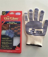Wholesale 100pcs hot sale top qulity Retail Packaging oven glove ove glove As hotsurface handler Home golves handler Oven D541