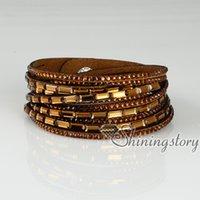 Wholesale crystal bracelets rhinestone slake bracelet bling bling double layer wrap bracelets wristbands adjustable rhinestone jewelry fashion bracele