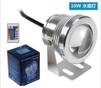 Wholesale 10W LED Flood Light RGB Waterproof IP68 DC V LM led spotlight outdoor LED underwater light