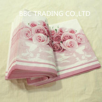 Wholesale Wedding and Anniversary Rose Stypl cm Lunch Napkins Food grade Paper Material Tissue