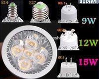 Wholesale GU10 GU5 E27 E14 MR16 W Dimmable W LED Sport light lamp High Power bulb warm cool white W DC12V AC V V V