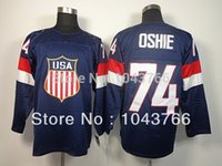 Cheap NWT T.J. Oshie USA Jersey Blue Olympic 2014 Sochi Stitched American Hockey Team USA 74 TJ Oshie Olympic Jersey Cheap Shop