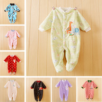 Wholesale Autumn Newborn Baby Romper Infant One Piece Romper Long Sleeve Jumpsuit Brand Baby Girl Boy New Born Baby Infant Clothes