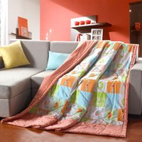 Wholesale Very healthy and comfortable quilt cotton fabric summer home textiles XBG010 model