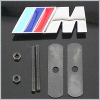 Wholesale 10 X Metal M Grill Car Emblem Front Set Chrome Auto Hood Badge Emblem M3 M5 M6 M Tec Tech M SPORT