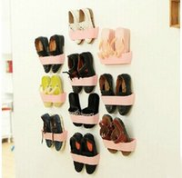 Wholesale New arrival fashion DIY Wall hanging type stereo shoe rack shelf to shoes pics shoes rack factory