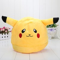 big fashion games - Poke Center Plush Stuffed Hat Animal Caps Pikachu Plush hat Fashion cosplay