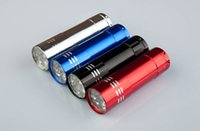 blue led flashlights - Top Selling Mini Aluminum Portable UV Ultra Violet LED Flashlight UV Flashlight Torch Light Lamp flashlight for outdoor with