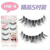Wholesale 5 Pair new Handmade Crisscross False Eyelashes Lashes Voluminous to fashion make up hot sale