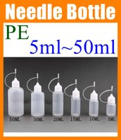 Wholesale 5ml ml ml ml ml ml Plastic Bottle PE Needle Bottle E liquid E liquid Bottles Empty dropper bottle for Electronic Cigarette FJ002