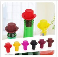 Wholesale Silicone Red Wine Hat Bottle Stoppers Silicone Kitchen Bar Tools Vacuum Sealed For Kitchen Bar Tools Color at Random Dhgate A00534