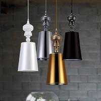 Wholesale Modern Brief Pendant Lamps Dining Room Pendant Lights White Black Golden Silver Spain Jaime Hayon Design Metalarte Josephine