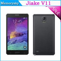 Wholesale High Quality inch JIAKE V11 Unlocked Phone NOTE MTK6572 Dual Core Android GB GPS Dual SIM Dual camera Cellphone free case