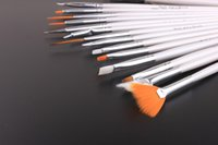 white acrylic paint - per set Nail Art Brushes All Purpose Paint Brushes For Acrylic Oil White colors Art Supply crystal pen