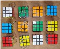 Wholesale 18 OFF New Classic Toys Keychain Rubik s cube x3x3cm Puzzle Magic Game Toy Key Keychain Children s intelligence toys
