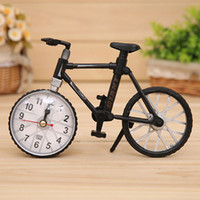 Wholesale Bicycle Design Alarm Clock mm Table Desk Bike Clock Home Decoration sw307