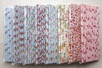 flower paper straws - 100PCS FLOWER DRINKING PAPER STRAWS VINTAGE RETRO WEDDING BABY PARTY DECORATION