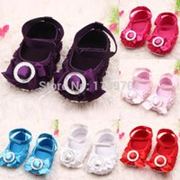 Wholesale Baby Girls Rose Shoes Toddler party rose flower first walker princess dress shoes