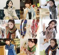 Wholesale Promotion new pure fashion fold super long big shawl women sexy fashion cheap multicolor punk scarf scarves wraps