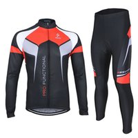 Wholesale ARSUXEO Breathable Spring Autumn Men Cycling Clothing Set Sportswear Suit Long Sleeve Bicycle Bike Jersey BIB Pants Set