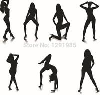 abstract heels - 2015 fashion high heeled shoes T back sex girl lady women home car wall sticker suit decor decals murals art Vinyl