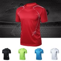Wholesale NEW Running Jerseys Sport short sleeve wicking quick drying round neck short sleeved T shirt men LS04