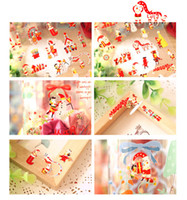 bedroom safety - Metallic Nail Sticker Stickers Hot Santa Claus Stickers Children Stick PVC stickers Party Gifts Fashion Children Safety and Fun Sticker Sant