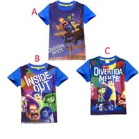 baby inside t shirt - 3 Color Children Inside Out T shirts new Boy and girl cartoon Inside Out Short sleeve T shirts baby clothes