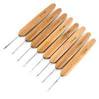 Wholesale 1 Set Sizes Aluminum Bamboo Crochet Hooks Knitting Needles Weave Tools