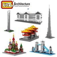 architecture building construction - London Bridge Model Kit World Architecture Building Blocks Construction Kit LOZ Nanoblock Miniature Model Brinquedos Meninos
