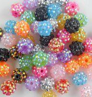 Wholesale 200pcs Mixed Acrylic Rhinestone Iced Charms Disco Beads mm Fit Beads Bracelets DIY