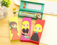 Wholesale 2016 Pencil Cases New Dream Girl printed paper pencil box Office School Supplies pencil case