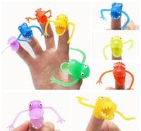 Wholesale 1000Pcs Hot sale PVC Dinosaur Crocodile Finger Puppet Toys