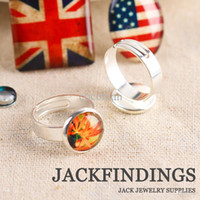 bezels - mm Ring Settings Round Brass Silver Plated Cabochon Cameo Base Bezels Tray Setting