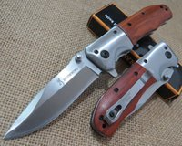 Wholesale Browning DA51 folding knife wooden handle HRC Cr13 Tactical survival Knives Camping tools