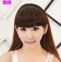 Wholesale hot Ms High temperature wire With hair bands neat bang