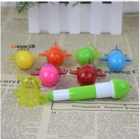 Wholesale Creative Retractable Ball pen point Cartoon Telescopic Capsule pills Pen Airplane Modelling Pen Children Toy Novelty Kids Stationery