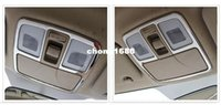 interior trim - Stainless Steel Interior Front Rear Reading Light Lamp Cover Trims For Hyundai Tucson ix35